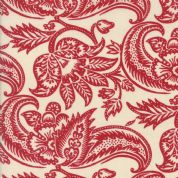 Moda Madam Rouge by French General - 5687 - Stylised Floral Red on Cream  - 13771 18 - Cotton Fabric